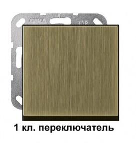 1 клавишный переключатль Gira 10600/296603 комплект Бронза