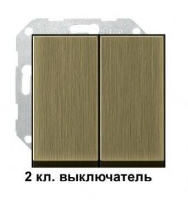 2 клавишный выключатель Gira 10500/295603 комплект Бронза