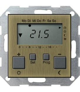 Термостат с таймером и функцией охлаждения Gira 2370603 Бронза