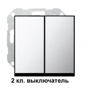 2 клавишный выключатель Gira 10500/295605 комплект Хром