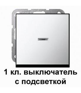 Клавишный выключатель с подсветкой проходной в сборе Gira 11200/290605 System 55 Хром