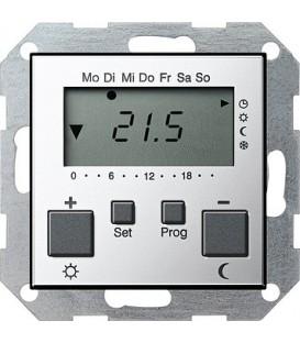 Термостат с таймером и функцией охлаждения Gira 2370605 Хром