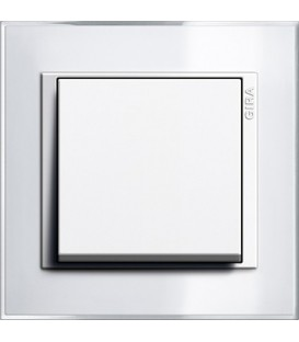 Рамка 1 место Gira 211723 Event Clear для центральных вставок белого цвета Белый