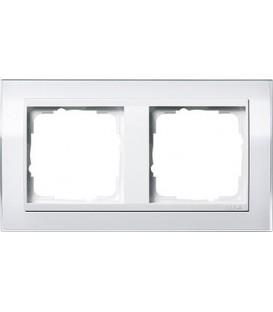 Рамка 2 места Gira 212723 Event Clear для центральных вставок белого цвета Белый
