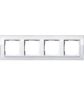 Рамка 4 места Gira 214723 Event Clear для центральных вставок белого цвета Белый
