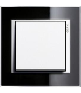 Рамка 1 место Gira 211733 Event Clear для центральных вставок белого цвета Чёрный