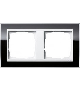 Рамка 2 места Gira 212733 Event Clear для центральных вставок белого цвета Чёрный