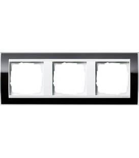 Рамка 3 места Gira 213733 Event Clear для центральных вставок белого цвета Черный