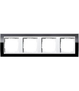 Рамка 4 места Gira 214733 Event Clear для центральных вставок белого цвета Чёрный
