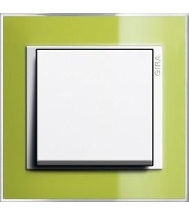 Рамка 1 место Gira 211743 Event Clear для центральных вставок белого цвета зеленый