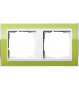 Рамка 2 места Gira 212743 Event Clear для центральных вставок белого цвета зеленый