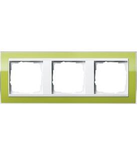 Рамка 3 места Gira 213743 Event Clear для центральных вставок белого цвета зеленый