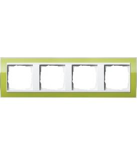 Рамка 4 места Gira 214743 Event Clear для центральных вставок белого цвета зеленый
