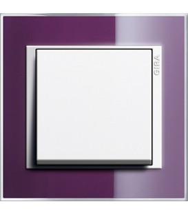 Рамка 1 место Gira 211753 Event Clear для центральных вставок белого цвета цвет кабачка