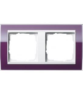Рамка 2 места Gira 212753 Event Clear для центральных вставок белого цвета цвет кабачка