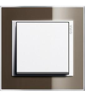 Рамка 1 место Gira 211763 Event Clear для центральных вставок белого цвета коричневый