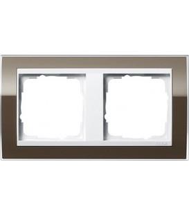 Рамка 2 места Gira 212763 Event Clear для центральных вставок белого цвета коричневый
