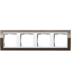 Рамка 4 места Gira 214763 Event Clear для центральных вставок белого цвета коричневый