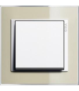 Рамка 1 место Gira 211773 Event Clear для центральных вставок белого цвета цвет песка