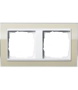 Рамка 2 места Gira 212773 Event Clear для центральных вставок белого цвета цвет песка
