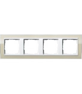 Рамка 4 места Gira 214773 Event Clear для центральных вставок белого цвета цвет песка