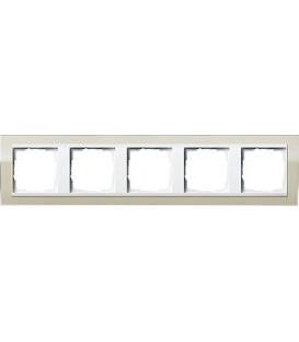 Рамка 5 мест Gira 215773 Esprit для центральных вставок белого цвета цвет песка