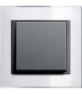 Рамка 1 место Gira 211728 Event Clear для центральных вставок цвета антрацит Белый