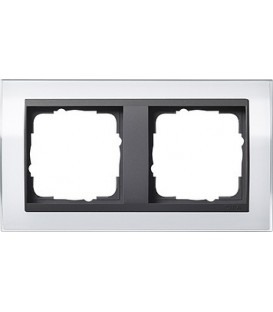 Рамка 2 места Gira 212728 Event Clear для центральных вставок цвета антрацит Белый