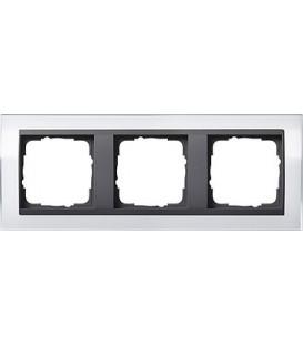 Рамка 3 места Gira 213728 Event Clear для центральных вставок цвета антрацит Белый