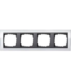 Рамка 4 места Gira 214728 Event Clear для центральных вставок цвета антрацит Белый