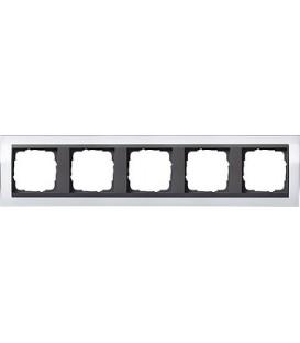Рамка 5 мест Gira 215728 Event Clear для центральных вставок цвета антрацит Белый