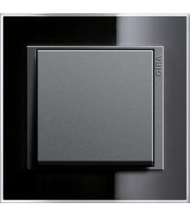 Рамка 1 место Gira 211738 Event Clear для центральных вставок цвета антрацит Чёрный