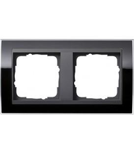 Рамка 2 места Gira 212738 Event Clear для центральных вставок цвета антрацит Чёрный