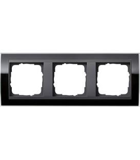 Рамка 3 места Gira 213738 Event Clear для центральных вставок цвета антрацит Чёрный