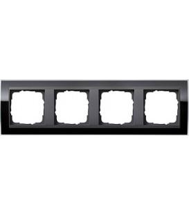 Рамка 4 места Gira 214738 Event Clear для центральных вставок цвета антрацит Чёрный