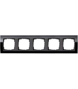 Рамка 5 мест Gira 215738 Event Clear для центральных вставок цвета антрацит Чёрный