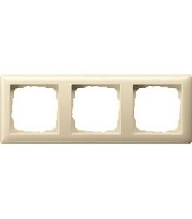 Рамка 3 места Gira 21301 Standart 55 Кремовый