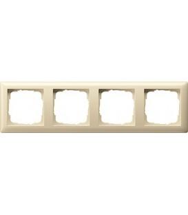 Рамка 4 места Gira 21401 Standart 55 Кремовый