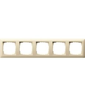 Рамка 5 мест Gira 21501 Standart 55 Кремовый