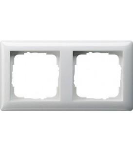 Рамка 2 места Gira 21203 Standart 55 Белый глянцевый