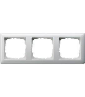 Рамка 3 места Gira 21303 Standart 55 Белый глянцевый
