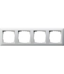 Рамка 4 места Gira 21403 Standart 55 Белый глянцевый