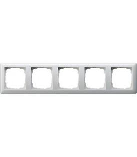 Рамка 5 мест Gira 21503 Standart 55 Белый глянцевый