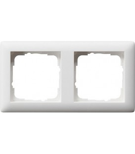 Рамка 2 места Gira 21204 Standart 55 Белый матовый