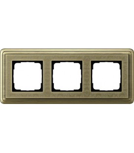 Рамка 3 места Gira 213661 ClassiX Art Бронза