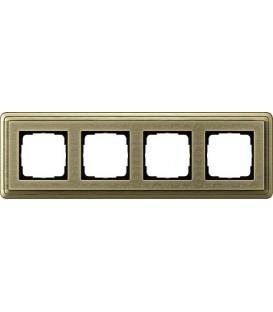 Рамка 4 места Gira 214661 ClassiX Art Бронза