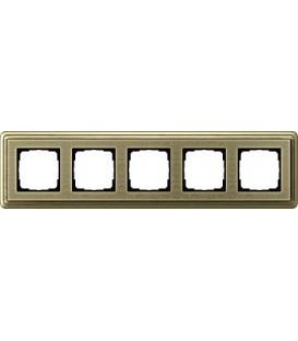 Рамка 5 мест Gira 215661 ClassiX Art Бронза