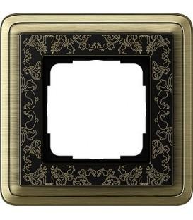 Рамка 1 место Gira 211662 ClassiX Art Бронза Чёрный
