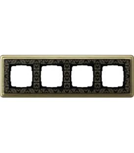 Рамка 4 места Gira 214662 ClassiX Art Бронза Чёрный