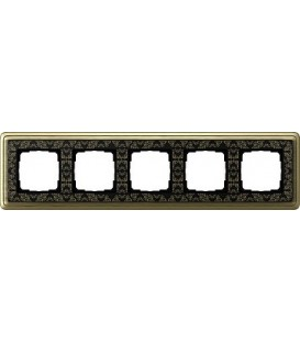 Рамка 5 мест Gira 215662 ClassiX Art Бронза Чёрный
